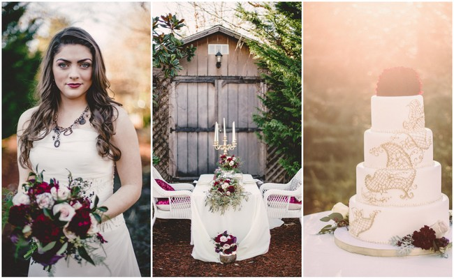 Marsala & Gold Romance: Winter Wedding {Red Boat Photography}