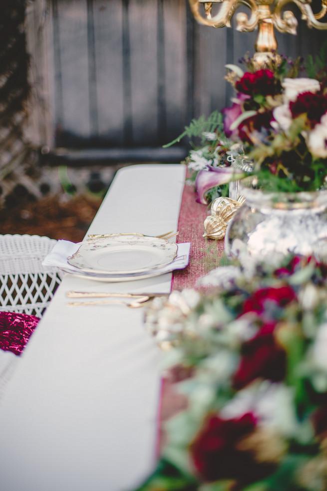Marsala Wedding Tablescape - RedboatPhotography.net