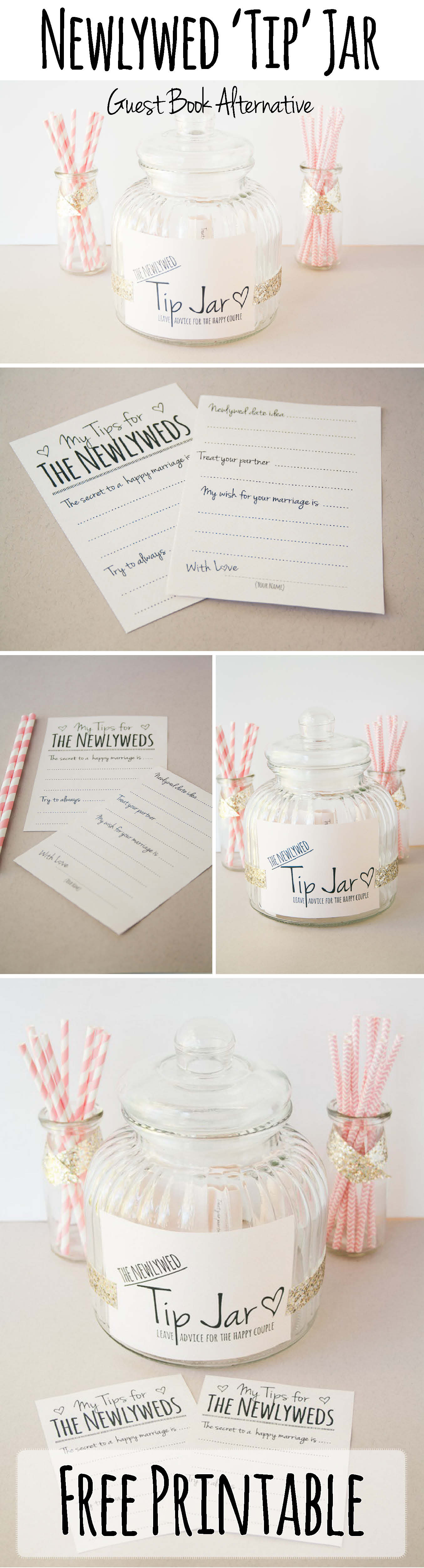 Newlywed Tip Jar Printable