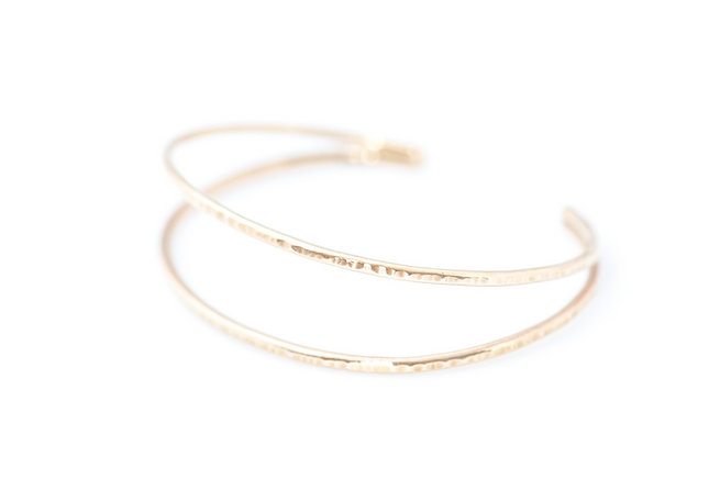 Gold pascal cuff Truvelle Makers Collaboration - Blush Wedding Photography / Olivia Headpieces / Catherine Hartley Jewellery