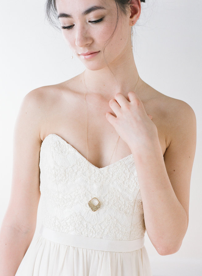 Julienne Necklace - Truvelle Makers Collaboration - Blush Wedding Photography / Olivia Headpieces / Catherine Hartley Jewellery