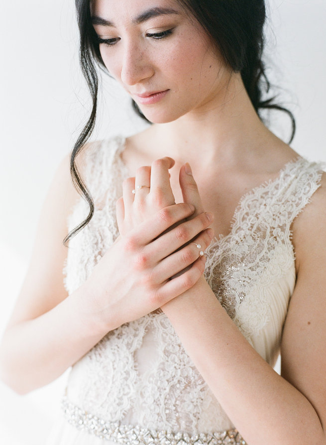 Jura pearl rings - Truvelle Makers Collaboration - Blush Wedding Photography / Olivia Headpieces / Catherine Hartley Jewellery