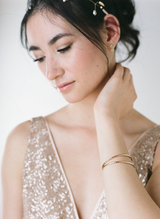 Bridal cuff - Truvelle Makers Collaboration - Blush Wedding Photography / Olivia Headpieces / Catherine Hartley Jewellery