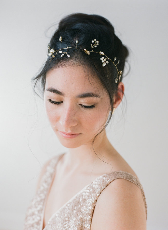 Hair vine - Truvelle Makers Collaboration - Blush Wedding Photography / Olivia Headpieces / Catherine Hartley Jewellery