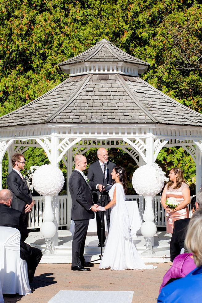 Outdoor reception - Vintage-Inspired White Glamorous Wedding Wedding - Haley Photography