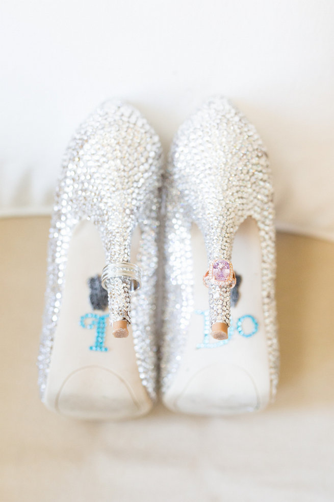 Sparkly wedding shoes - Vintage-Inspired White Glamorous Wedding Wedding - Haley Photography
