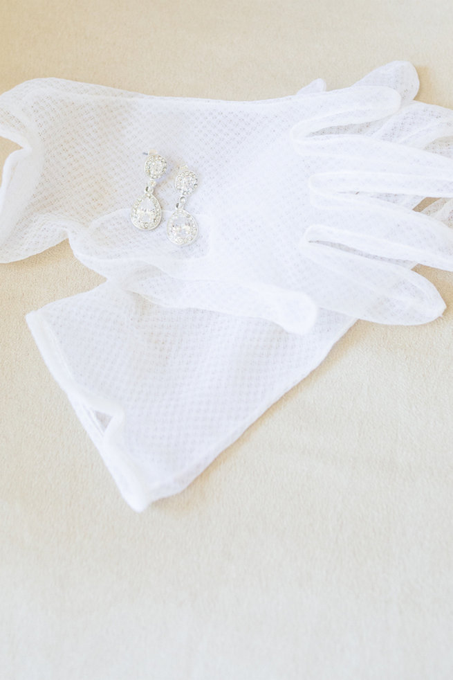 White gloves - Vintage-Inspired White Glamorous Wedding Wedding - Haley Photography