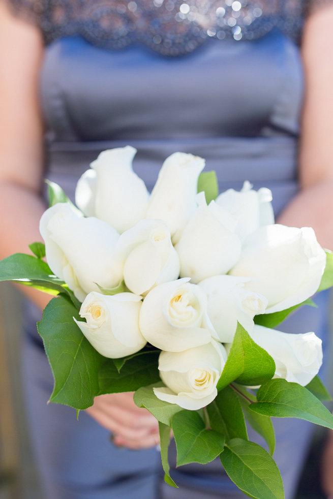White bridesmaid bouquet - Vintage-Inspired White Glamorous Wedding Wedding - Haley Photography