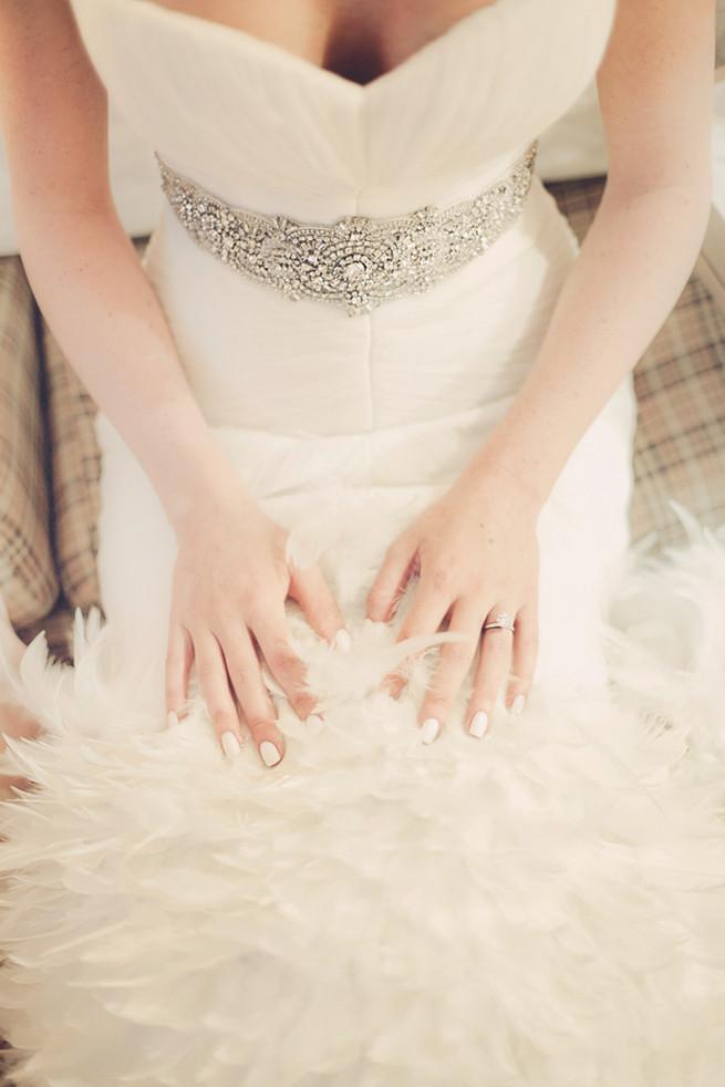 Feather Wedding Dress - Lindsey K Photography