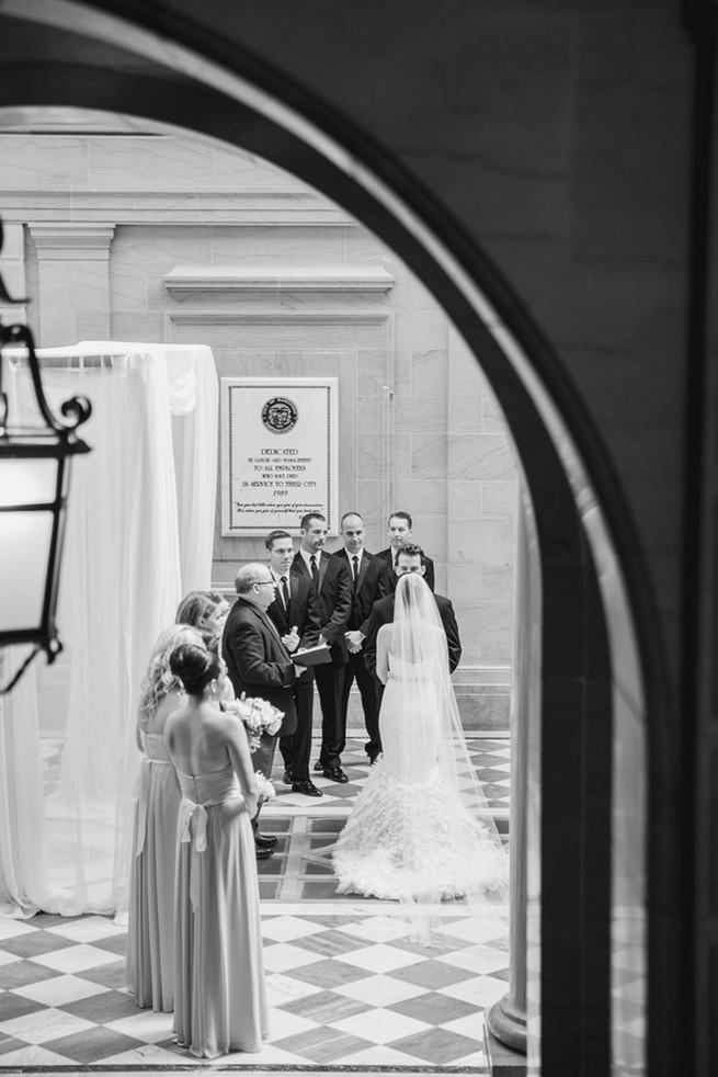 White Blush Ballroom Wedding - Lindsey K Photography