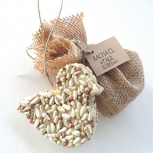 eco friendly wedding favor bird seed