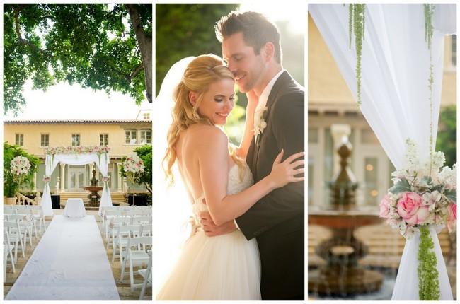 Blush and Gold Romantic, Glitzy Wedding - Andi Diamond Photography (1)
