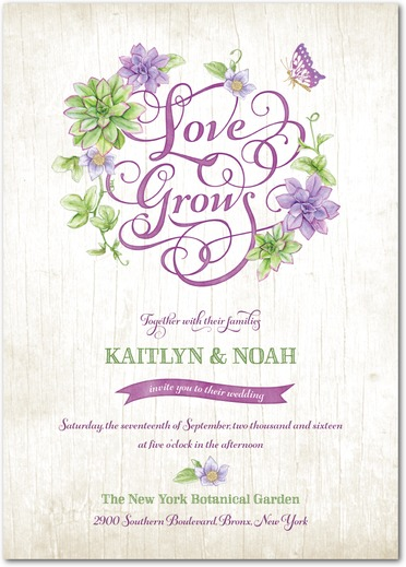 25 amazing Botanical Green Wedding Invites