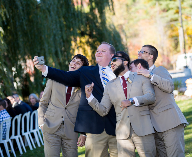 Selfie  - Beautiful Burgundy and Tan Wedding - Molinski Photo