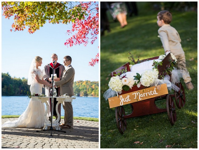 Burgundy & Tan Wine Lover's Wedding {Molinski Photo}