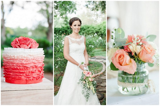 Coral and Green South African Wedding {Damor Photography}
