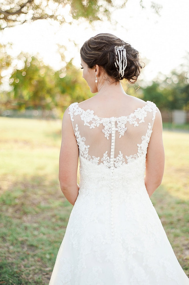 Lace back wedding dress / Coral and Green South African Wedding // D'amor Photography