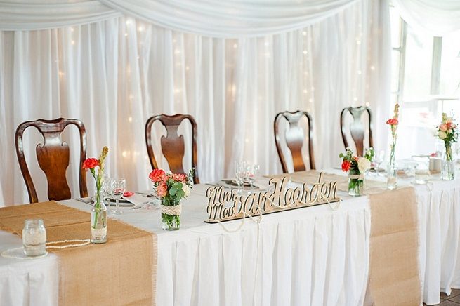 head table / Coral and Green South African Wedding // D'amor Photography