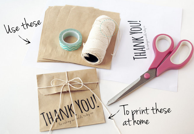 Diy Wedding Favor Bags How To Print On Paper 2
