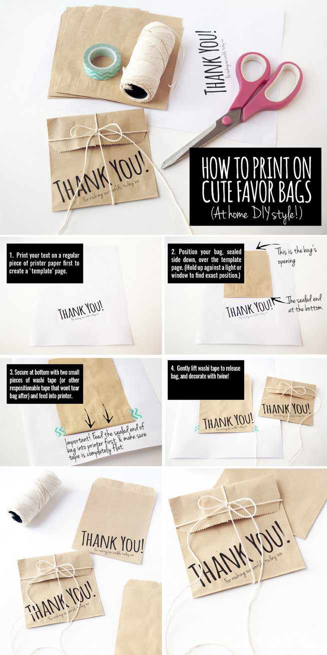 How to print favor bags at home