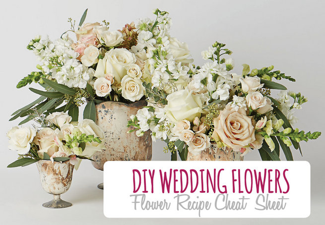 White and Green DIY Flower Centerpiece Recipe