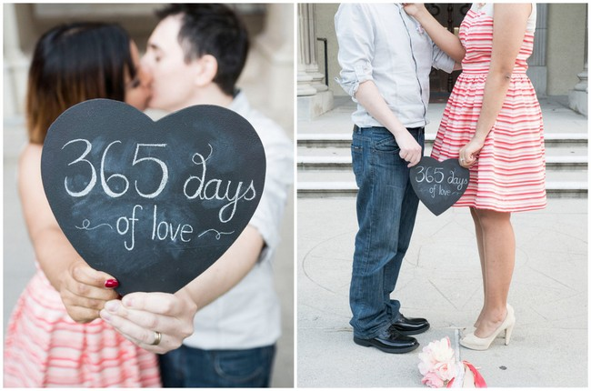 Cute First Wedding Anniversary Photo Ideas {Peterson Photography}