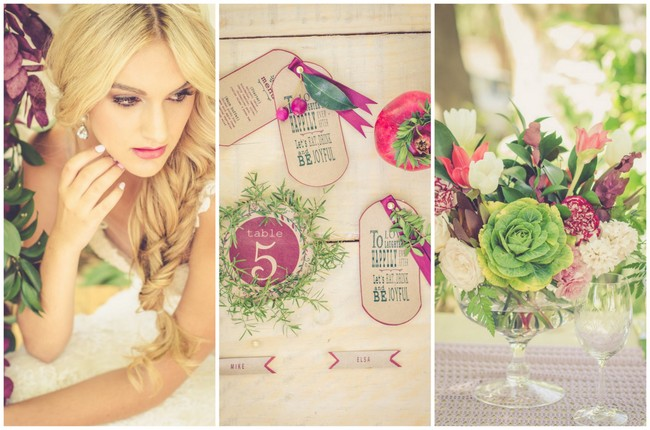 Garden Wedding Ideas in Marsala {Nadia Basson Photography}