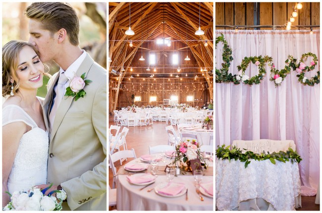 Romantic Spring Barn Wedding {Bethaney Photography}