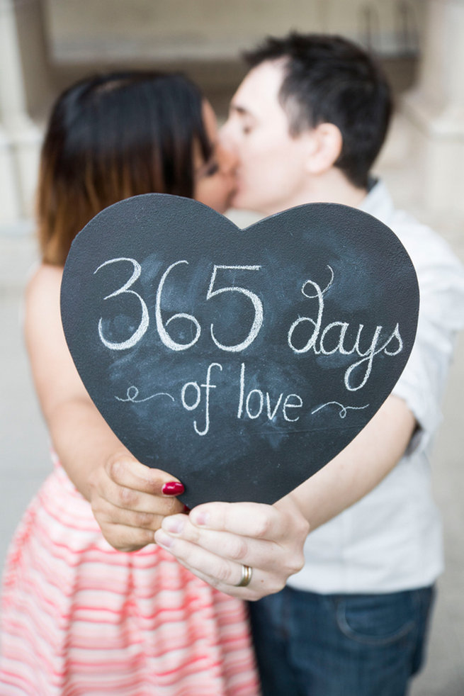 365 Days of Love Sign! Wedding Anniversary Photo Ideas by Peterson Photography