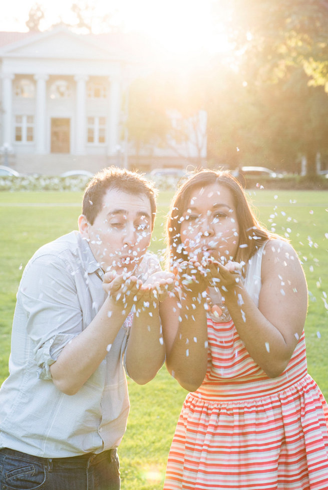 Glitter kiss! Wedding Anniversary Photo Ideas by Peterson Photography