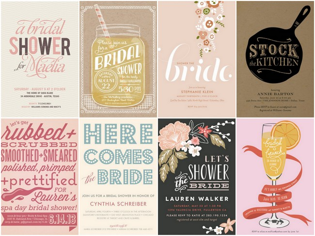 23 Bridal Shower Invitation Ideas that you're going to love!