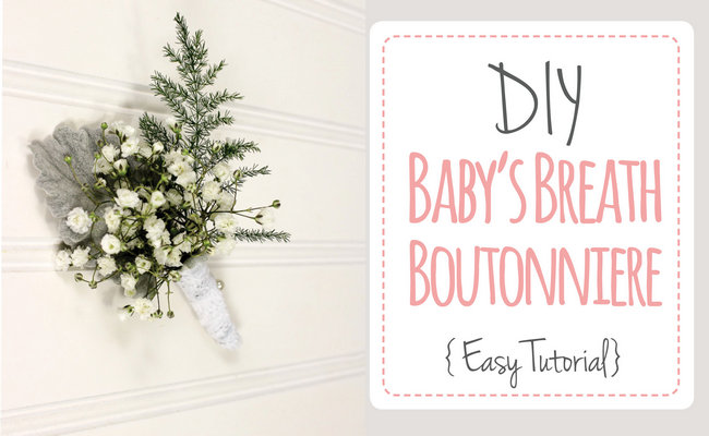 Easy DIY Baby's Breath Boutonniere Tutorial