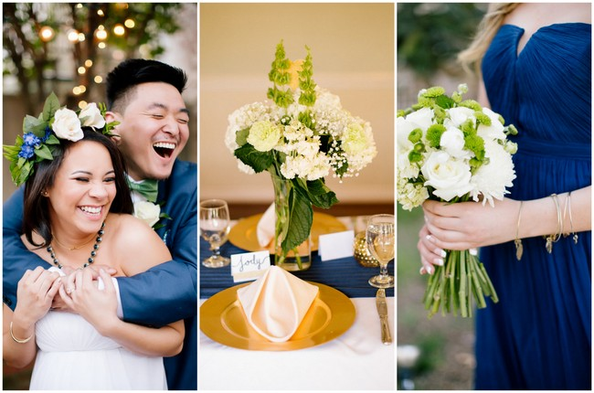 Intimate Gold and Navy Garden Wedding {Brandilynn Aines Photography}