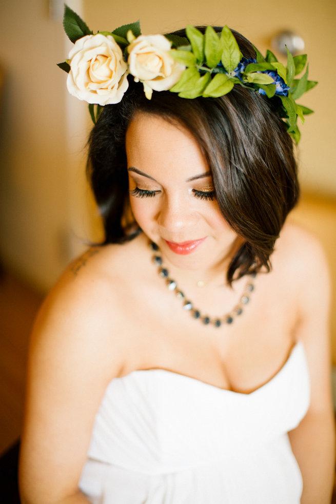Simple Gold Navy Garden Wedding - Brandilynn Aines Photography
