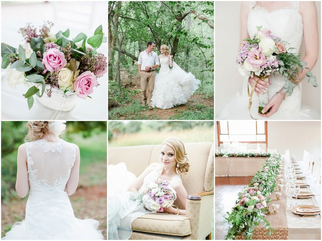 Totally Dreamy Pastel and Gold Pretoria Wedding {Damor Photography}