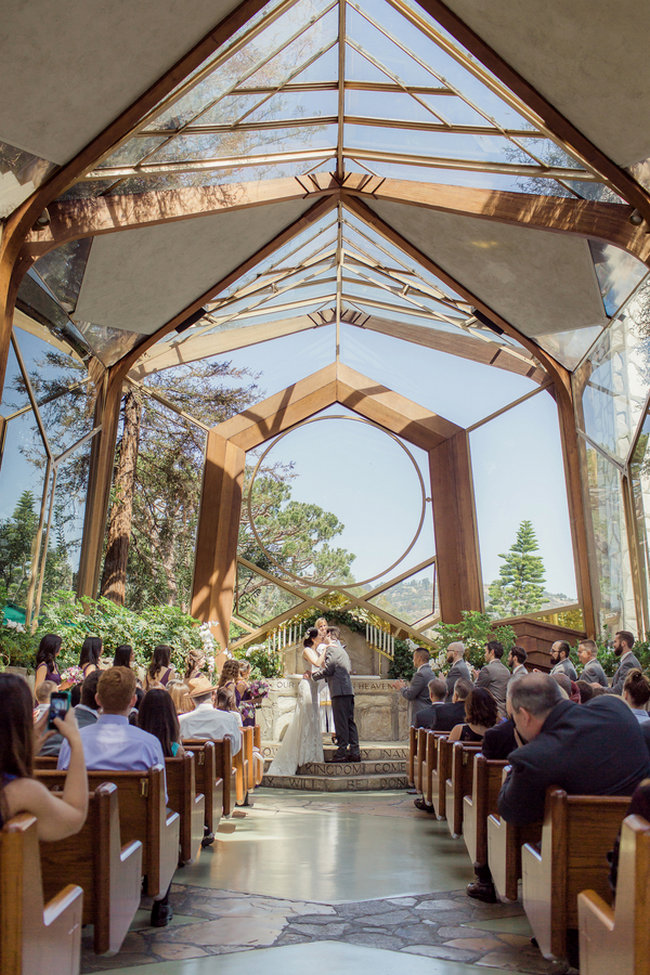 """Romantic Wedding in at Wayfarers """"Tree Chapel"""" set in a natural sancturary in the midst of a forest / Figlewicz Photography"""