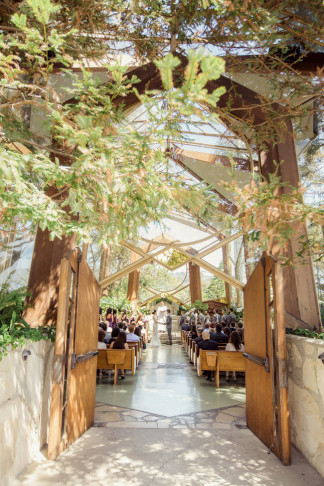 """Romantic Wedding in at Wayfarers """"Tree Chapel"""" set in a natural sanctuary in the midst of a forest / Figlewicz Photography"""