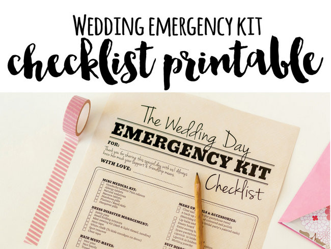 Wedding Emergency Kit & Checklist {Wedding Planning Series}