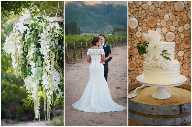 Flower-filled Franschhoek Wedding in White {Lauren Kriedemann Photography}