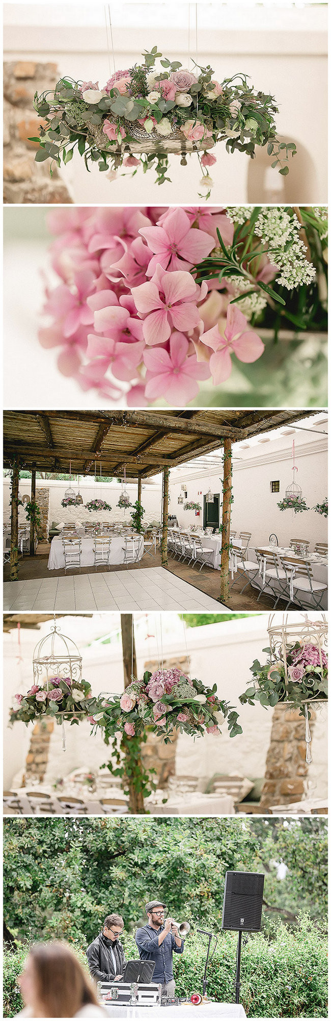 Romantic Courtyard Wedding