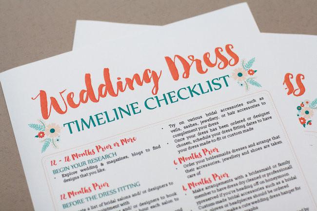 Wedding Dress Planning Timeline 34