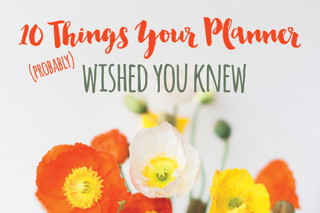 10 things your wedding planner probably wished you knew 1