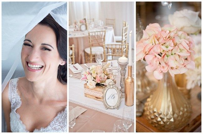 Absolutely Gorgeous Gold and Pink Wedding {Kathryn van Eck Photography}
