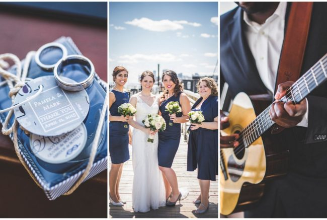 Nautical New York harbor yacht wedding {Lauren Cowart Photography}