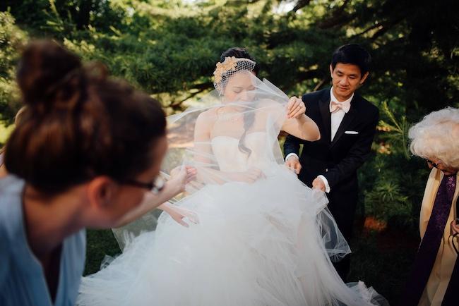 Outdoor Chinese Tea Ceremony Wedding - Ryan Brenizer Photography