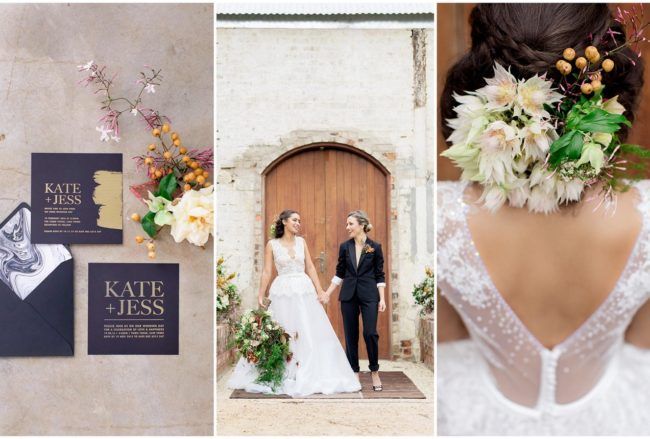 Tan, Copper & Marble Fall Wedding Inspiration {Wesley Vorster Photography}