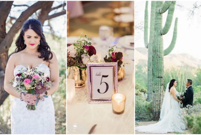 Sparkling Autumn Plum, Pink + Gold Arizona Wedding {Jessica Q Photography}