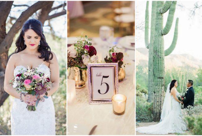 Sparkling Autumn Plum, Pink + Gold Arizona Wedding {Jessica Q Photography}