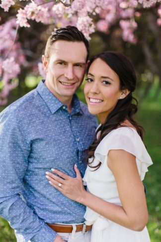 Apple Blossom Engagement Photographs in Ottawa. Photography: Grace & Gold Studio