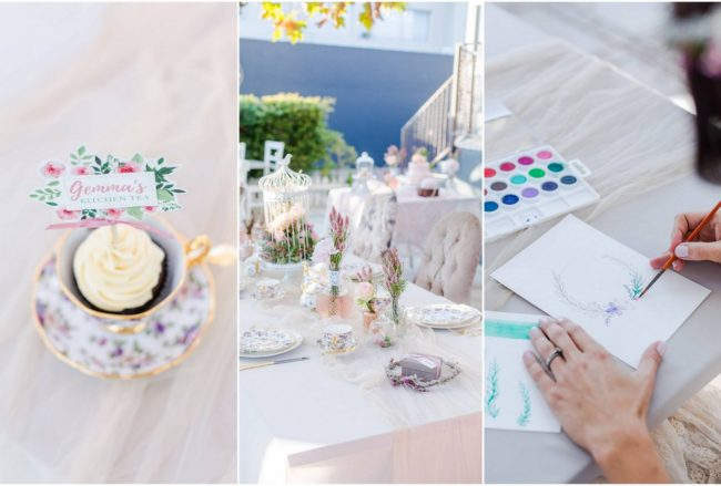 Modern Kitchen Tea Ideas: Watercolour Craft Classes